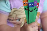 DIY ninja kid craft from popsicles