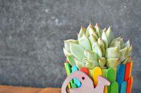 DIY pospicle stick flower pot