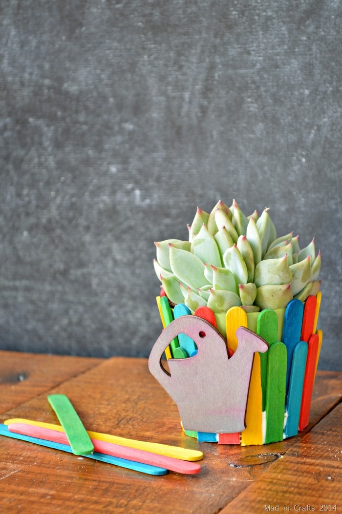 DIY pospicle stick flower pot