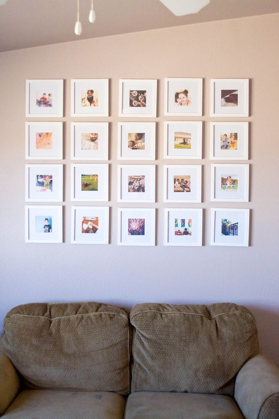 cute Instagram pic gallery wall