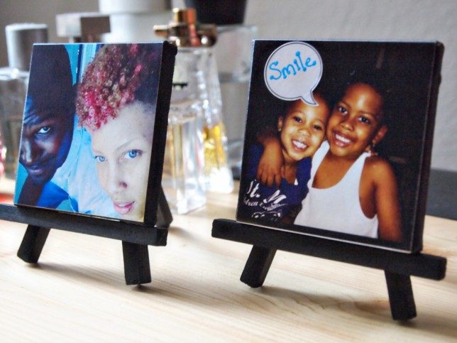 DIY mini Instagram photo canvas (via sparklecollective)
