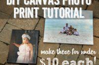 DIY canvas photo print