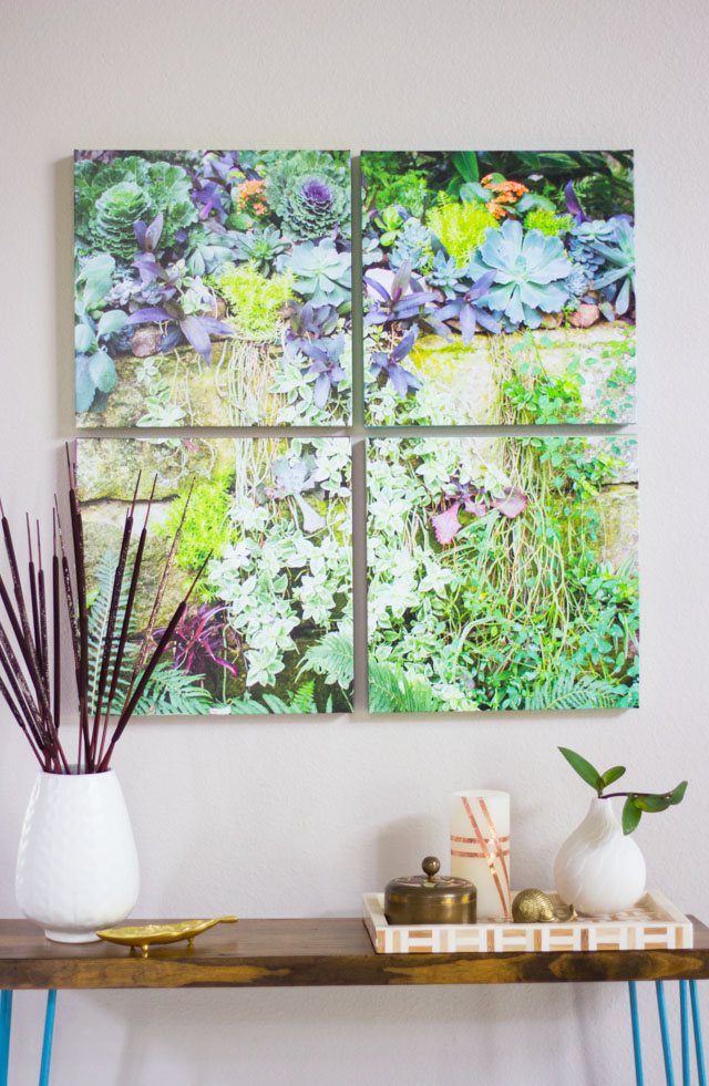 DIY photo canvas wall art (via designimprovised)