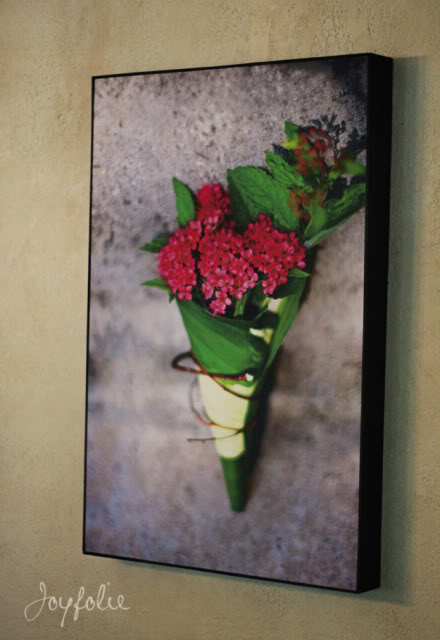 DIY botanical and floral photo canvas (via shelterness)