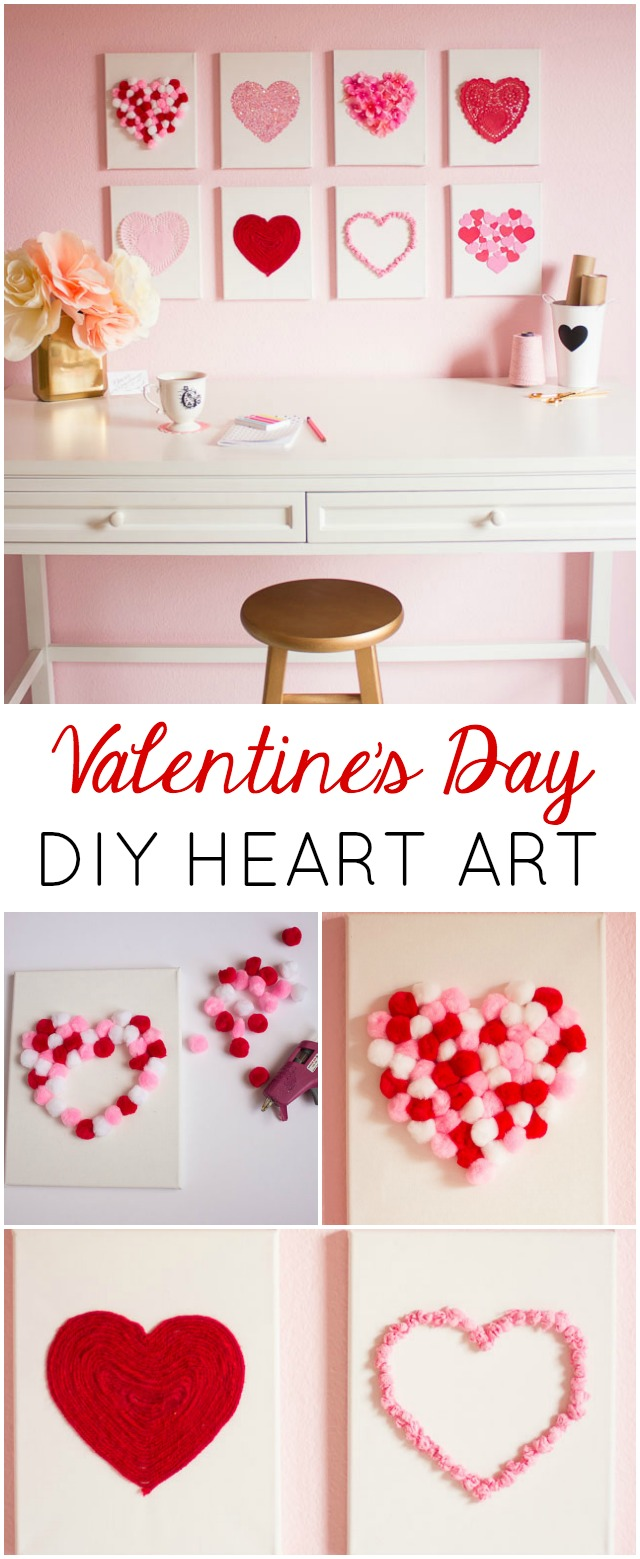 DIY Valentine canvas art (via designimprovised)