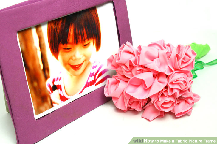 DIY cardboard fabric picture frame (via wikihow)