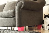 DIY bold legs for a sofa