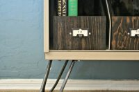 DIY sideboard with hairpin legs