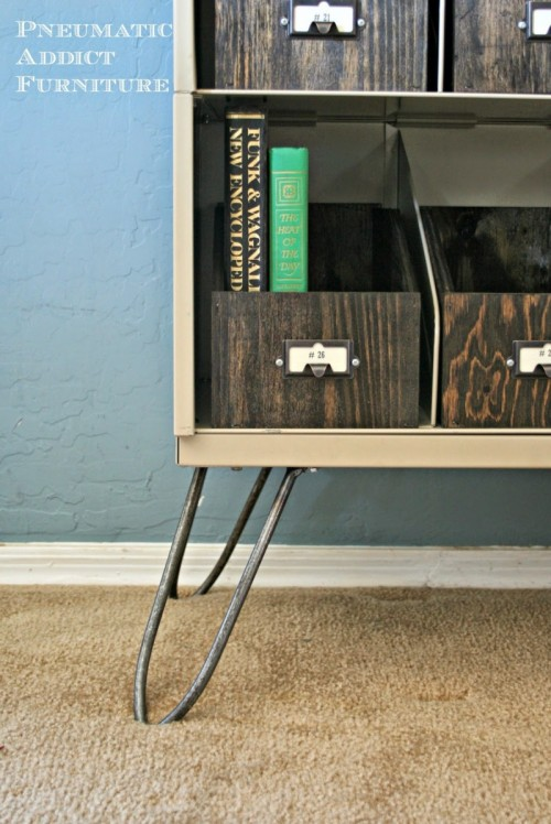 DIY sideboard with hairpin legs (via shelterness)