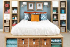 Master bedroom storage solution