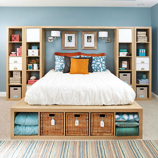 Master bedroom storage solution (via www.bhg.com)