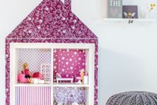Turn Ikea Expedit into a beautiful dollhouse