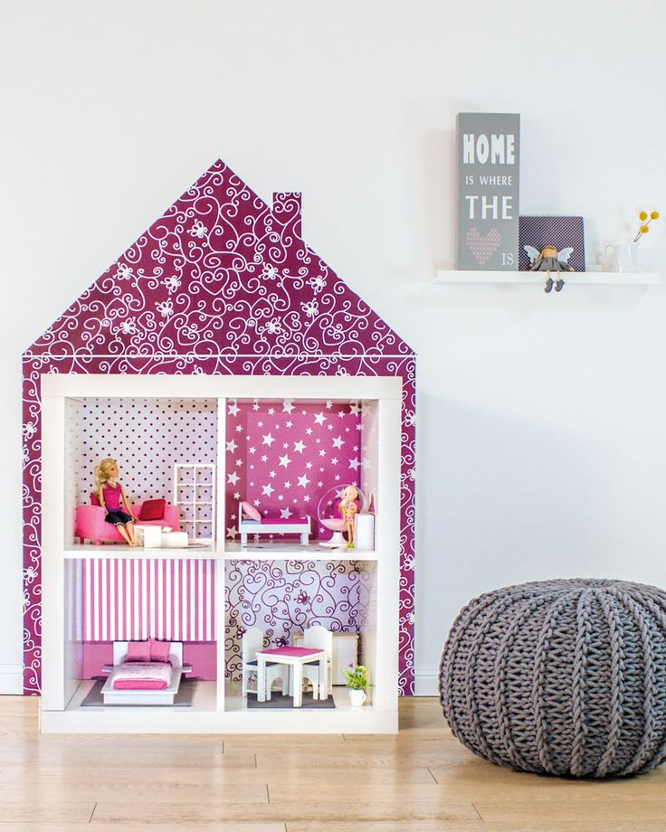 Turn Ikea Expedit into a beautiful dollhouse (via www.mommodesign.com)