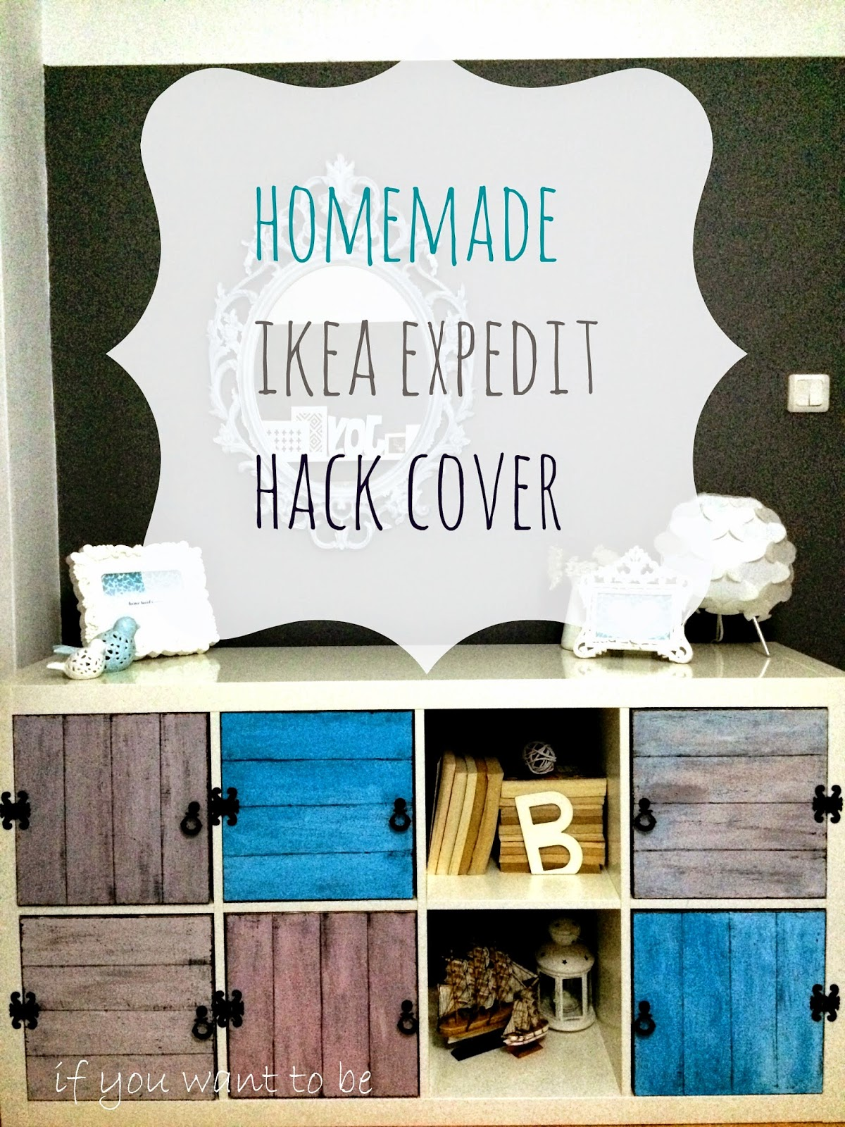 Colorful distressed doors for the storage unit