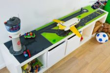 Kallax airport for a boy's room