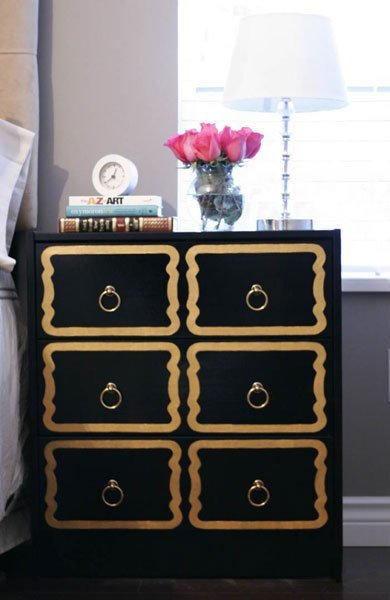 DIY IKEA Rast glam hack