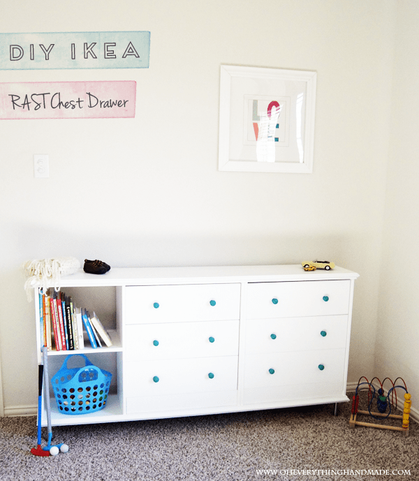 DIY double white IKEA Rast (via oheverythinghandmade)