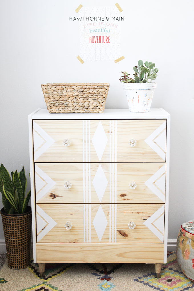 DIY stenciled Rast hack (via hawthorneandmain)