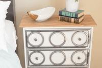 DIY industrial nightstand of IKEA Rast