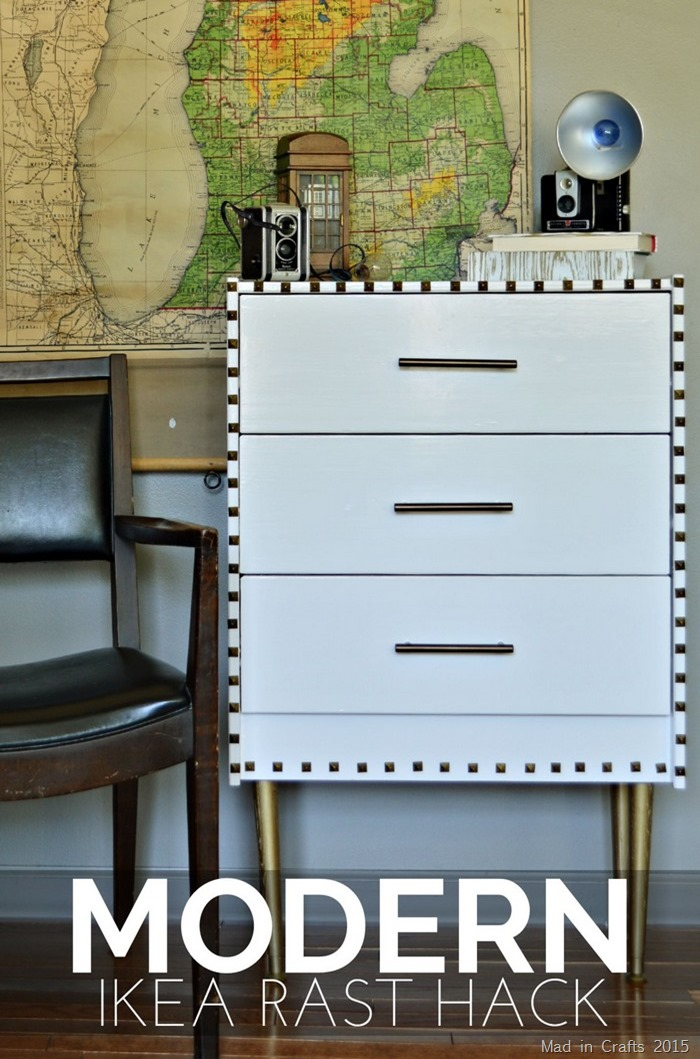 DIY modern IKEA Rast hack (via madincrafts)