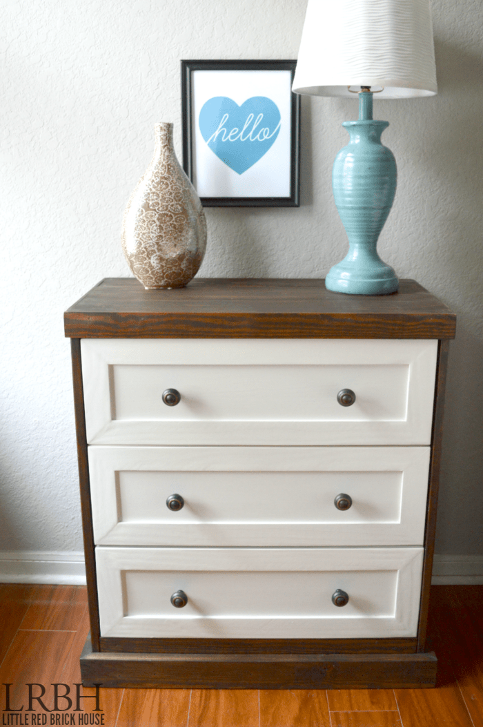 DIY wood and white Rast hack (via littleredbrickhouse)