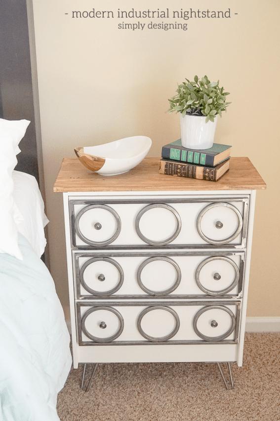 DIY industrial nightstand of IKEA Rast (via simplydesigning)
