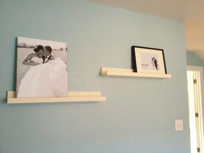 DIY Ribba picture ledges mounting