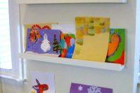 DIY children artwork ledges