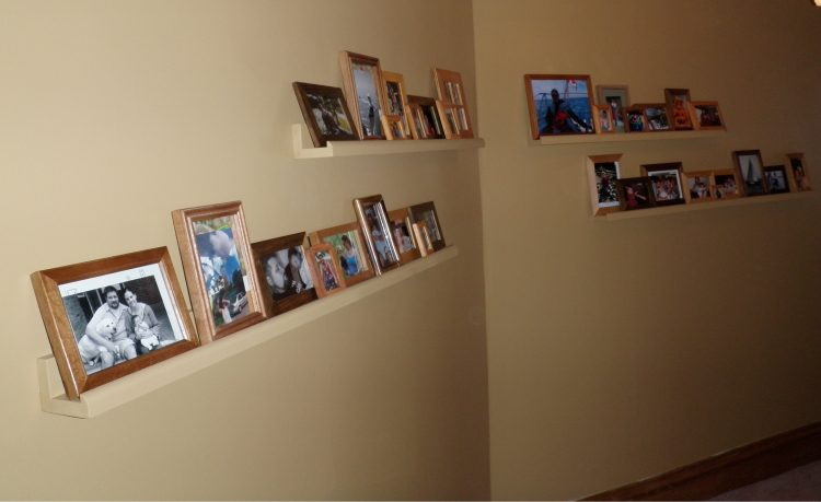 DIY gallery wall with IKEA Ribba (via ana-white)