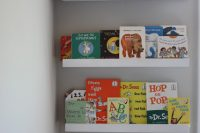 DIY kids bookshelves from Ribba ledges