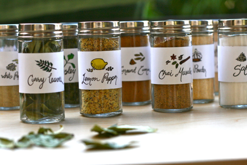 DIY Ribba ledges spice racks (via recipris)