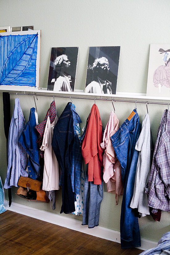 DIY Ribba ledge closet rack
