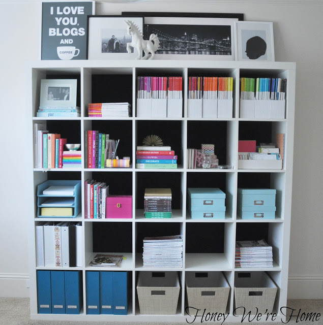 DIY Kallax bookshelf or bookcase (via honeywerehome)
