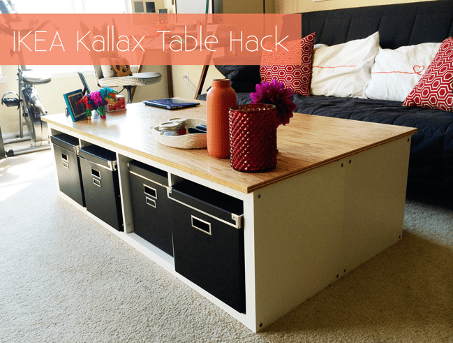 DIY IKEA Kallax storage coffee table (via makescoutdiy)
