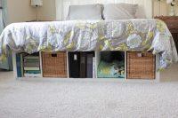 DIY platform bed with IKEA Expedit