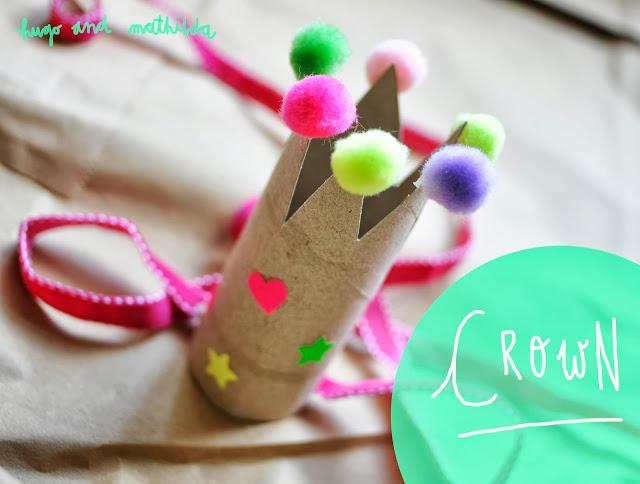DIY toilet paper roll crowns (via hugoandmathilda)