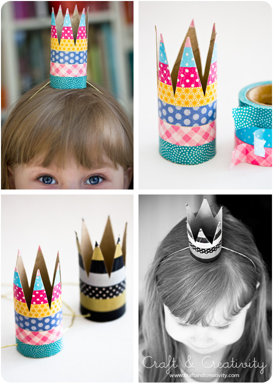DIY kid party crowns from toilet paper rolls (via craftandcreativity)