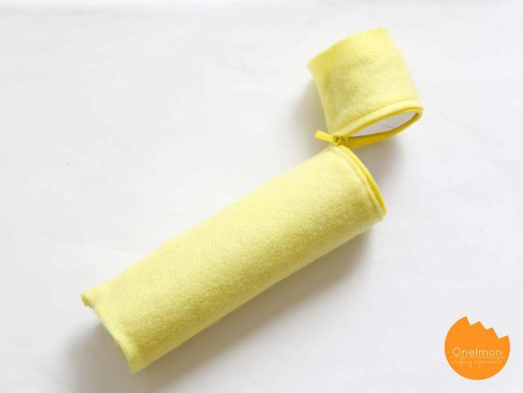 DIY toilet paper roll pencil holder (via onelmon)