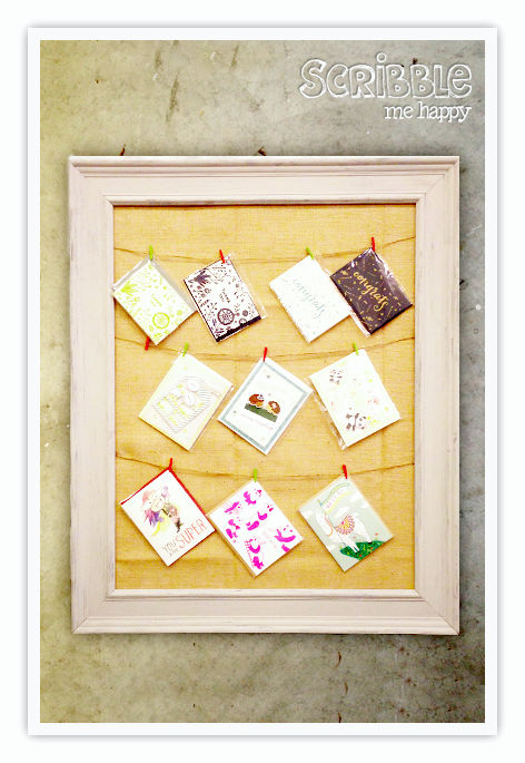 DIY vintage picture frame using chalk paint (via scribblemehappy)