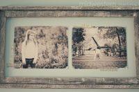 DIY vintage shabby photo frame