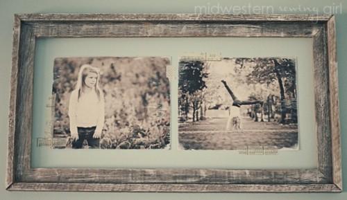 DIY vintage shabby photo frame (via shelterness)