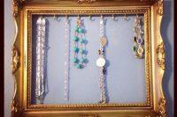 DIY vintage-inspired frame jewelry display