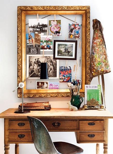 DIY vintage photo display