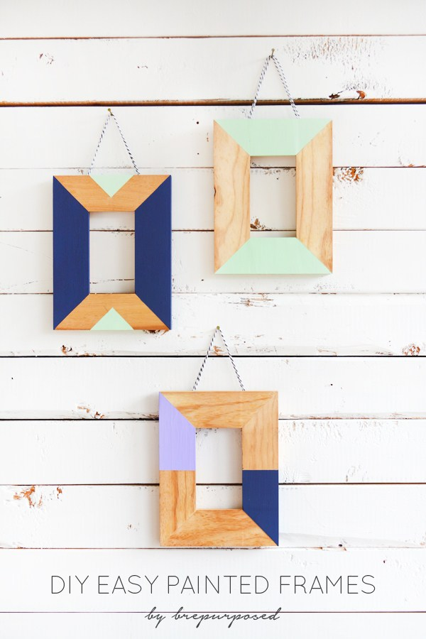 DIY color blocked wooden photo frames (via brepurposed)