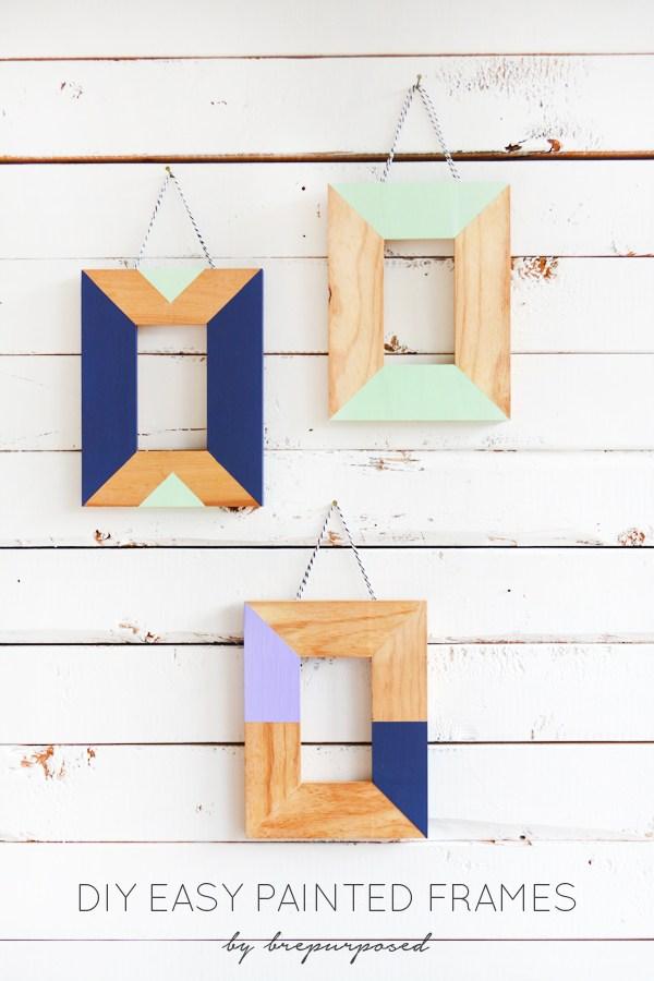 DIY color blocked wooden photo frames (via brepurposed)