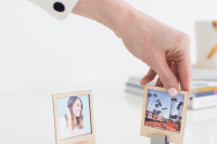 DIY wooden Polaroid photo frame