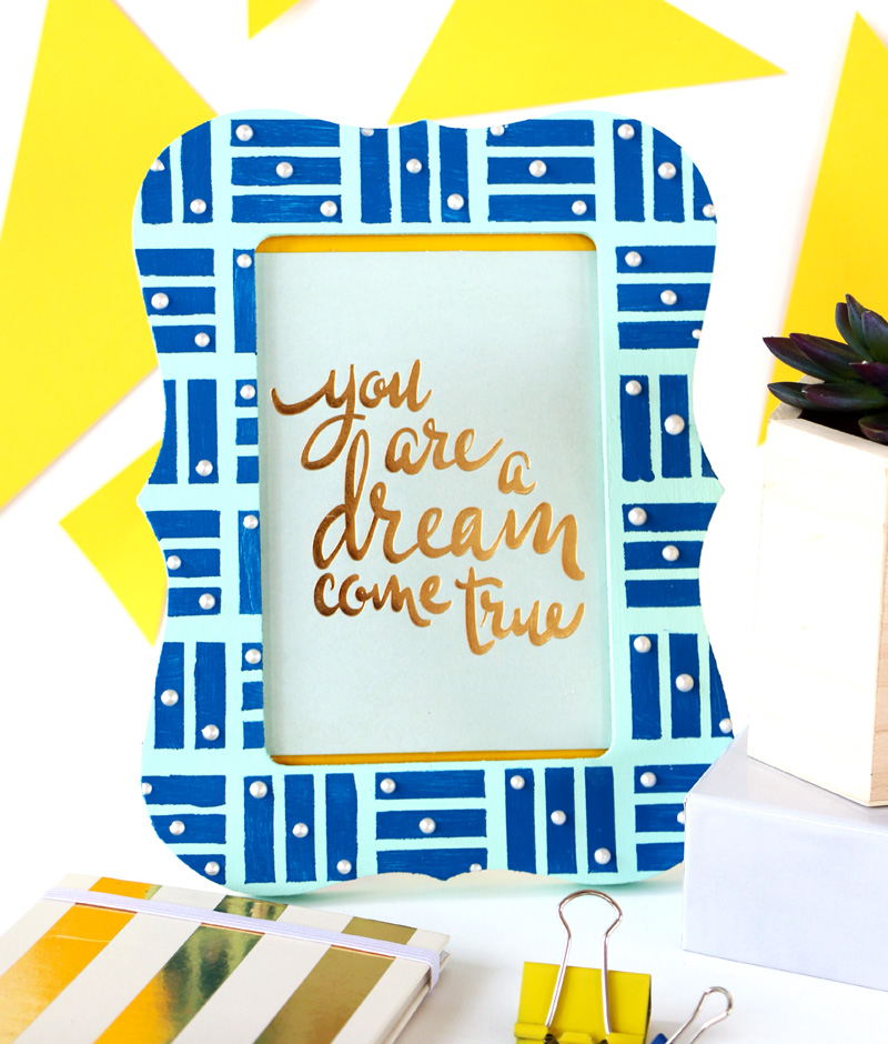 DIY Moroccan inspired picture frame