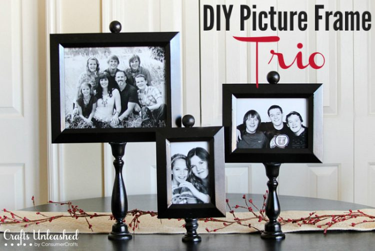 DIY wooden picture frames on stands (via blog)