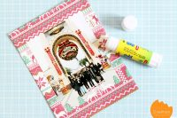 DIY wrapping paper photo frame