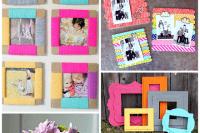 DIY bold paper frames